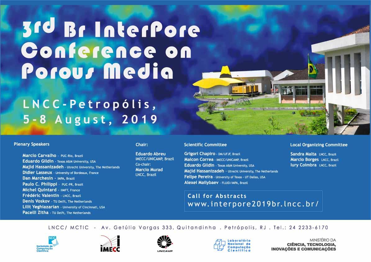 BR InterPore 2019: Third Brazil International Conference on Porous Media